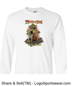 The Art Of Steel 100% Heavyweight Ultra Cotton Long Sleeve Adult T-Shirt Design Zoom